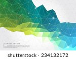 polygon abstract background... | Shutterstock .eps vector #234132172