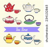 vector set of cute colorful... | Shutterstock .eps vector #234132865