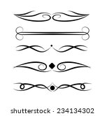 set of page decoration line... | Shutterstock .eps vector #234134302