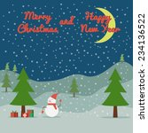 greeting christmas and new year | Shutterstock .eps vector #234136522