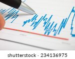 pen pointing on a financial... | Shutterstock . vector #234136975