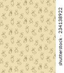 pattern of small teddy bear | Shutterstock . vector #234138922