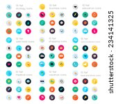 set of  flat icons  education... | Shutterstock .eps vector #234141325