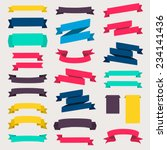 Set of design elements banners ribbons. Vector illustration. | Shutterstock vector #234141436