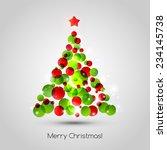 vector merry christmas tree... | Shutterstock .eps vector #234145738