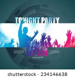 party poster background  vector  | Shutterstock .eps vector #234146638