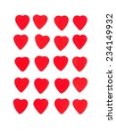hearts on white   little hearts ... | Shutterstock . vector #234149932