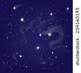 starry night sky  vector... | Shutterstock .eps vector #234160195