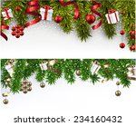 winter banners with spruce... | Shutterstock .eps vector #234160432