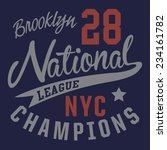 college sport nyc typography  t ... | Shutterstock .eps vector #234161782