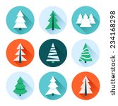 christmas trees collection. set ... | Shutterstock .eps vector #234168298