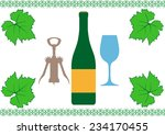 wine set on a white background | Shutterstock .eps vector #234170455