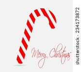 christmas cane. merry christmas ... | Shutterstock .eps vector #234173872