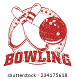 bowling design   vintage is an... | Shutterstock .eps vector #234175618