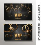 vip cards with shiny gold... | Shutterstock .eps vector #234182596