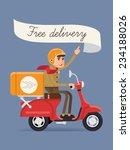 vector modern creative delivery ... | Shutterstock .eps vector #234188026