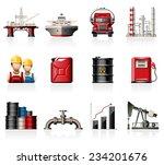 oil industry icons | Shutterstock .eps vector #234201676