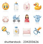 baby icons | Shutterstock .eps vector #234203626
