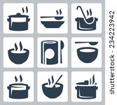 soup related vector icon set | Shutterstock .eps vector #234223942