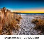 Beach Scene In Panama City...