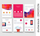 flyer  brochure design... | Shutterstock .eps vector #234235156