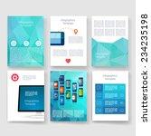 flyer  brochure design... | Shutterstock .eps vector #234235198