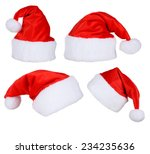 santa claus red hat isolated on ... | Shutterstock . vector #234235636