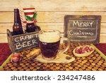 christmas beer  | Shutterstock . vector #234247486