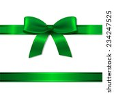 Green Ribbon And Bow With...