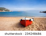 Fishermen's Boat On A Beach ...