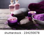 composition of spa treatment on ... | Shutterstock . vector #234250078