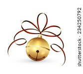 golden christmas bell with... | Shutterstock .eps vector #234250792