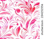 watercolor pink floral seamless ... | Shutterstock .eps vector #234252556