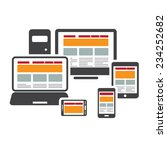 responsive web design on... | Shutterstock .eps vector #234252682