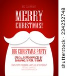christmas party poster. vector... | Shutterstock .eps vector #234252748