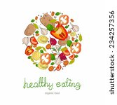 background with bright healthy... | Shutterstock .eps vector #234257356