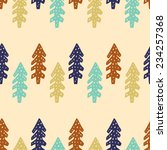 winter seamless pattern with... | Shutterstock .eps vector #234257368
