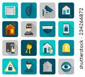 home security safety and... | Shutterstock .eps vector #234266872