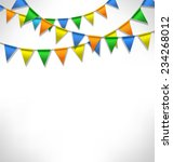 multicolored bright buntings...   Shutterstock .eps vector #234268012