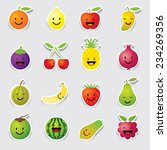 mixed fruits character  cartoon | Shutterstock .eps vector #234269356
