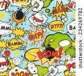 comic speech bubbles in pop art ... | Shutterstock .eps vector #234269782