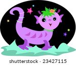 alien lizzy on a new planet... | Shutterstock .eps vector #23427115