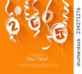 happy new year 2015   modern... | Shutterstock .eps vector #234271276