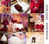 collage of wedding pictures...   Shutterstock . vector #234273052