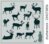 deer silhouette set | Shutterstock .eps vector #234273856
