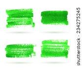 vector green watercolor banner... | Shutterstock .eps vector #234275245