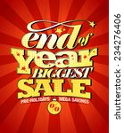 end of year biggest sale design.   Shutterstock .eps vector #234276406