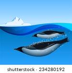 Emperor Penguins Swim...