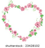 frame with roses | Shutterstock .eps vector #23428102