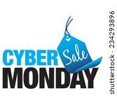 cyber monday sale | Shutterstock .eps vector #234293896